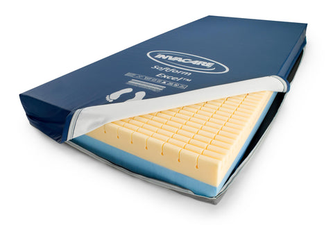 the Invacare softform is a pressure reduction mattress for most standard beds.