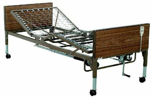 T2000FH Homecare / Hospital Adjustable Bed Package mattress and half or full rails.