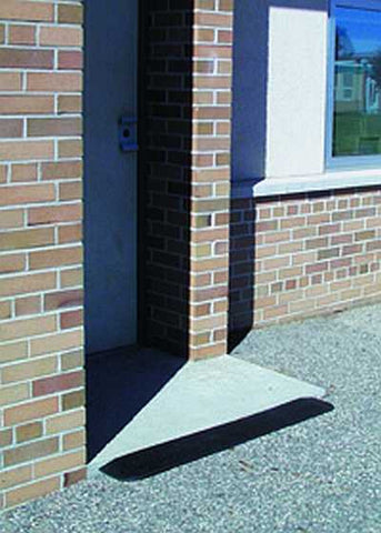 rubber threshold ramps fit the need for short thresholds