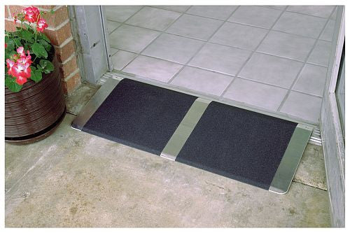"PVI Threshold ramps are a full 32 inches wide for standard doorways or 36"" for wider doors"