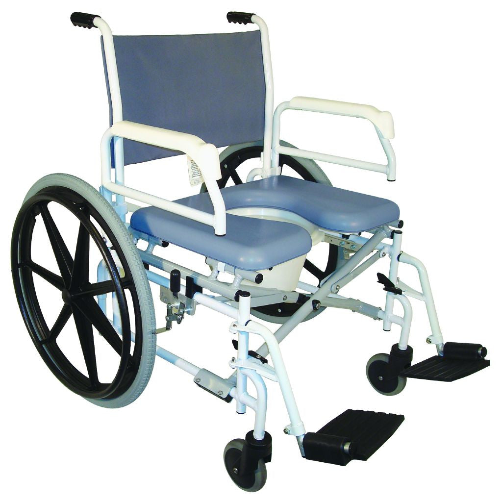 Handicap shower chairs pvc reclining shower commode chairs - Tuffcare Shower Commode Chair S990 Free Shipping In The Us
