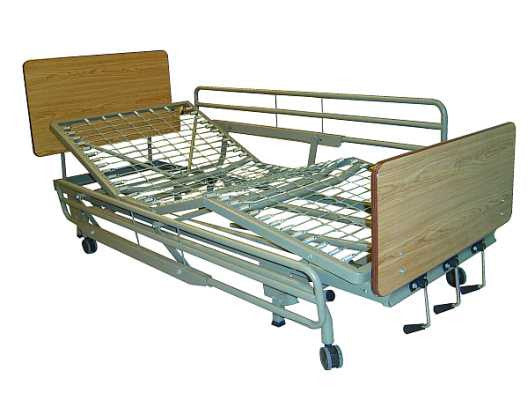 Tuffcare Deluxe Institutional Manual Hi Lo Hospital Bed