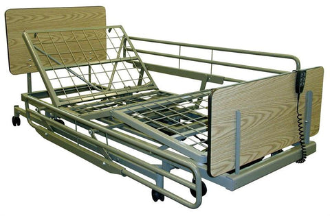 TLN3120 F/H Institutional Hi Lo AdjustableBed, Mattress, & Rails