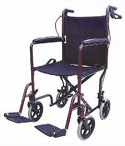 TuffCare 820 Institutional Transporter Manual Wheel Chair with locking loop brakes