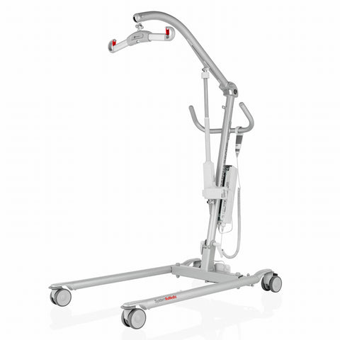 The HandiCare Carina is a floor based lift from HandiCare which is well accepted in the caregiving community, because it folds for easy storage and redeployment.