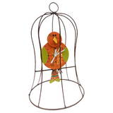 Cheerful Canary in Small Cage