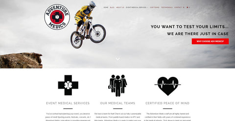Spooky Dawson did the web design for Adventure Medics, based in Bend, Oregon