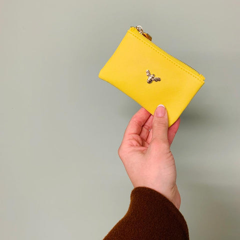 The Bee Keeper Coin Purse - Yellow