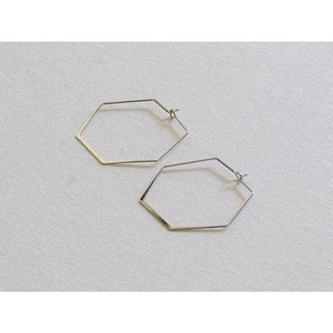 Hexagon Hoop Earrings- Various Colours