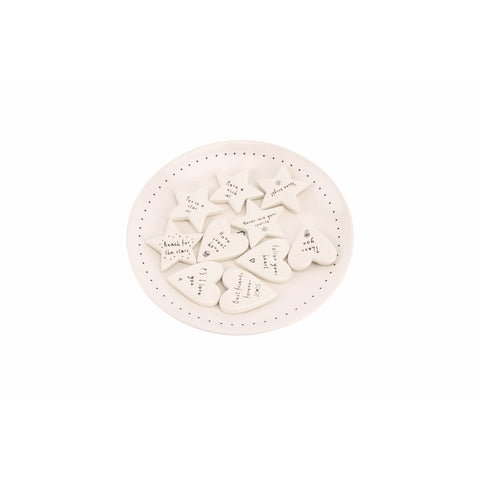 Ceramic Sentiment Tokens- Various Sayings