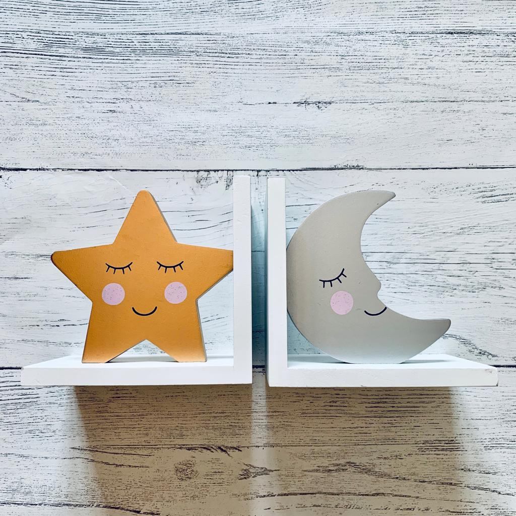 Star and Moon Bookends
