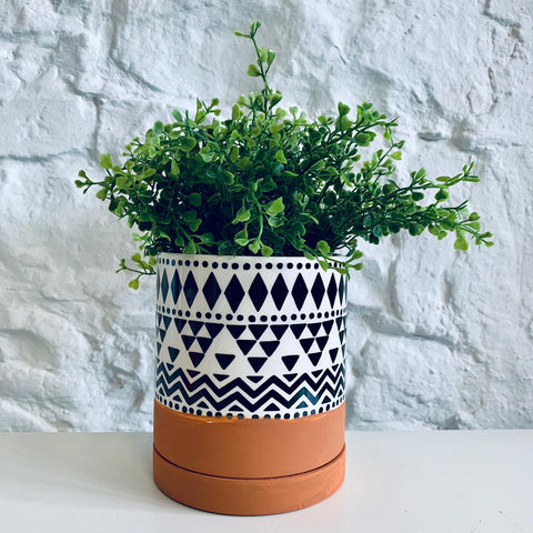Scandi Boho Tribal Geo Planter