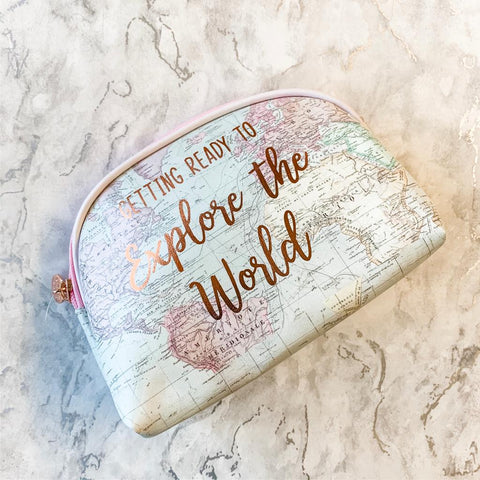 World Explorer Cosmetic Bag