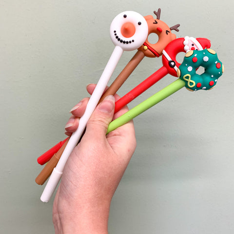 Christmas Donut Pens - Various Designs
