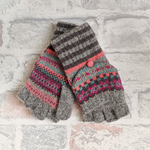 Knitted Fingerless Gloves/Mittens-Various Colours