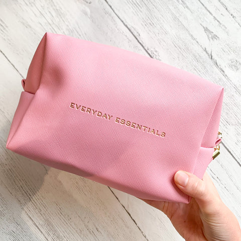 """Everyday Essentials"" Pink Wash / Makeup Bag"