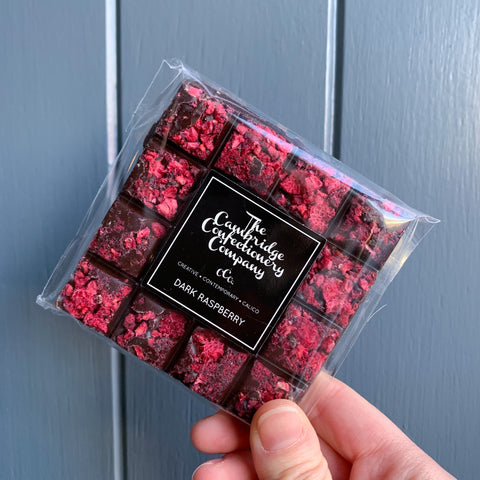 Dark Raspberry Chocolate Square
