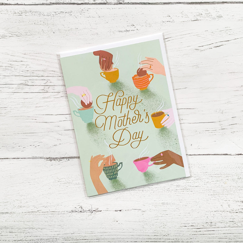 Happy Mothers Day 'Teacups' Card