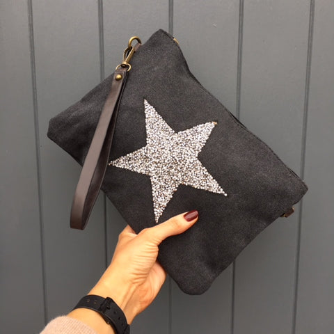 Multi Strap Clutch with Gem Star Detail on Front