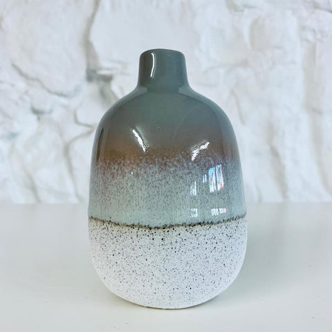 Grey Dip Glazed Ombre Tall Vase