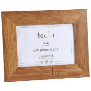 'Teulu' Photo Frame Oak- Various Sizes