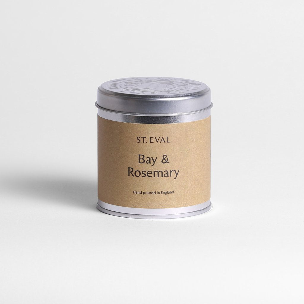 Bay and Rosemary Scented Tin Candle