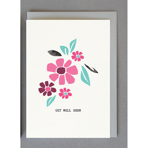 Get Well Soon Pretty Flowers Card
