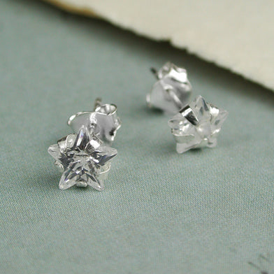 Clear Crystal Star Stud