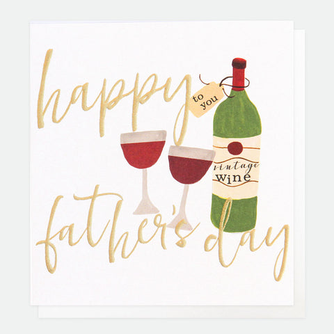 Happy Fathers Day- Wine Bottle