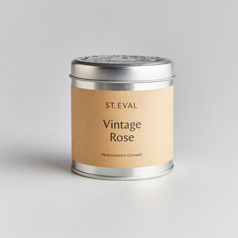 Vintage Rose Scented Tin Candle