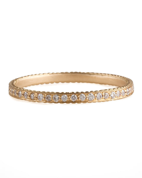 Jamie Wolf Collection Cognac Diamond Band 18K Yellow Gold Size 8.5