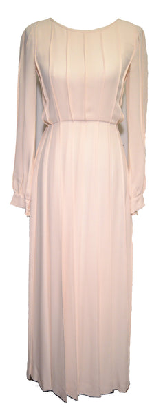 Jean Patou 1960s Ivory Silk Pleated Dress