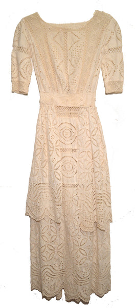 Antique Crochet and Lace Day Dress c1915
