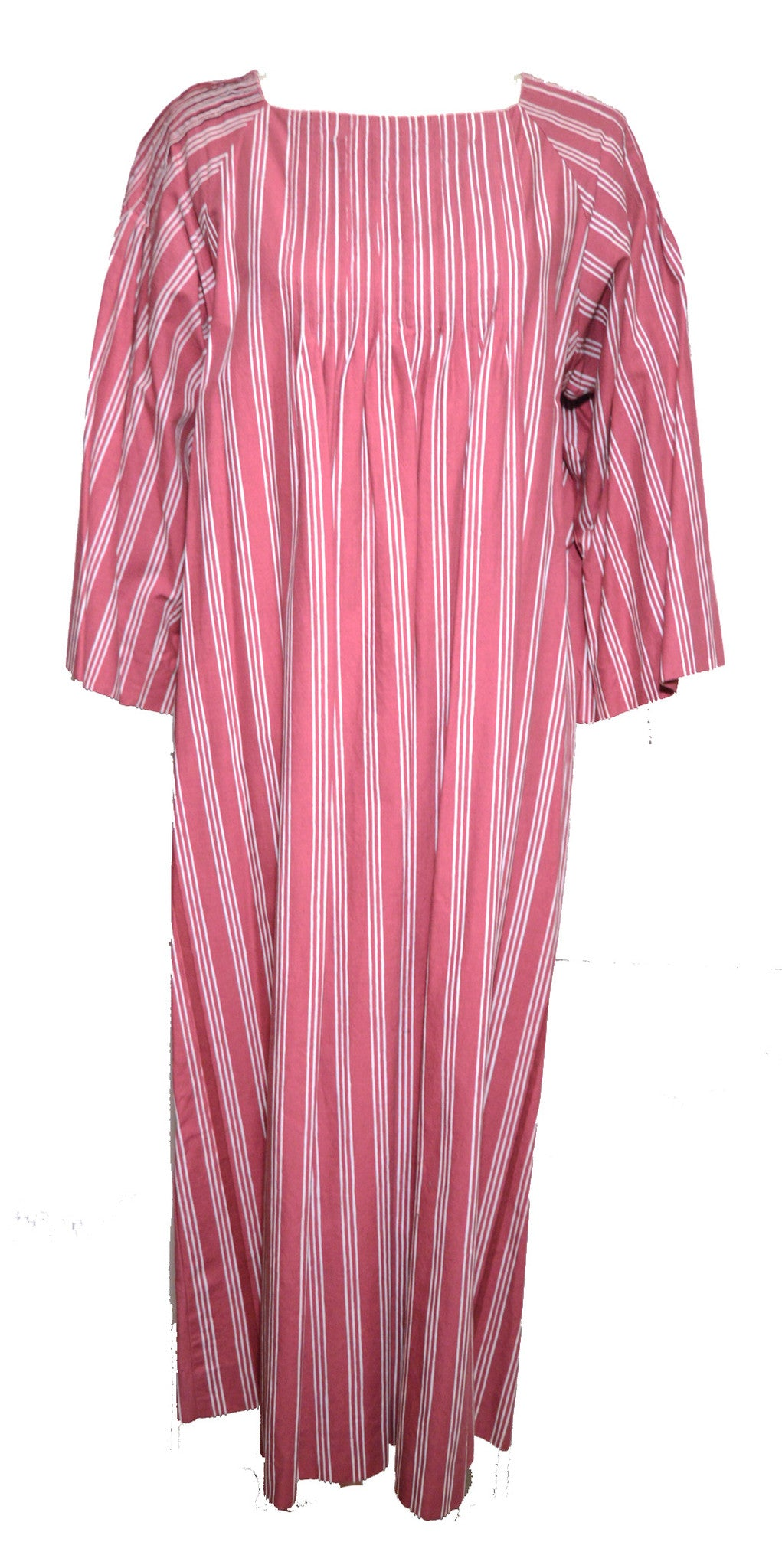 Marimekko 1970s Rose Striped Tunic Dress Dress Lord & Taylor Philadelphia Vintage and Textiles - 1