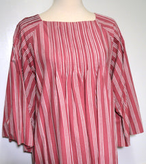 Marimekko 1970s Rose Striped Tunic Dress Dress Lord & Taylor Philadelphia Vintage and Textiles - 4