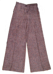 Christian Lacroix Vintage Wide Leg Burgundy Woven Wool Trousers Small 1970's Pants Christian Lacroix Philadelphia Vintage and Textiles - 5