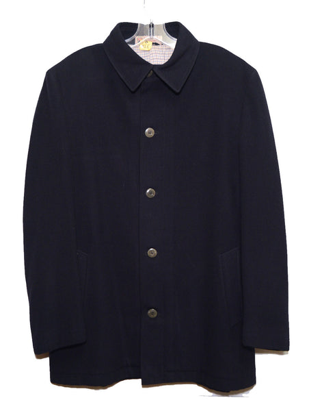 Gucci 1970s Mens Navy Blue Driving Jacket Size 50