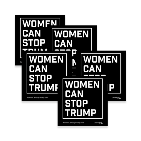 Women Can Stop Trump Sticker Set