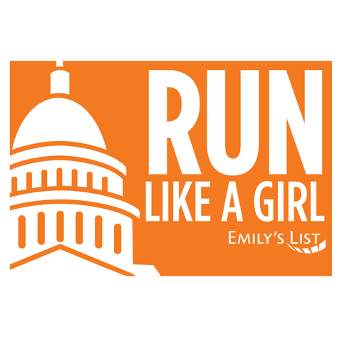 Run Like a Girl Car Magnet
