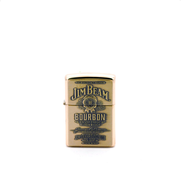 Encendedor Zippo - Jim Beam Bourbon - Color Bronce Brillante