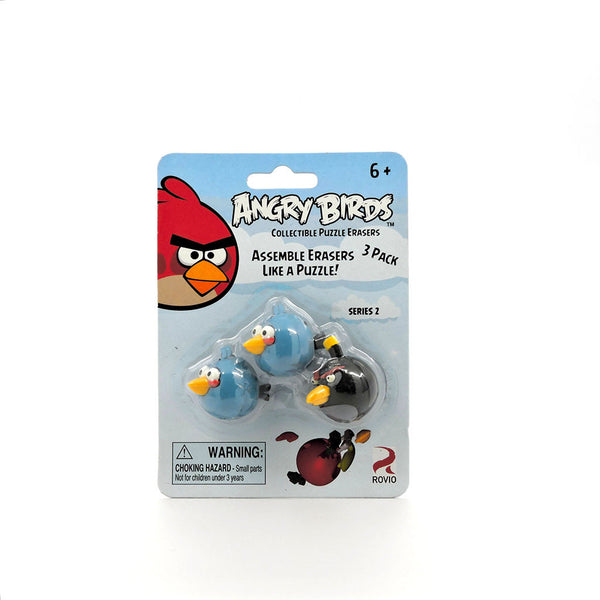 Gomas Armables - Angry Birds - 2 Blue y 1 Bomb