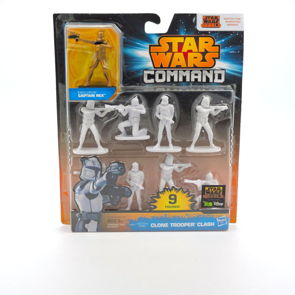 Paquete con 9 figuras de Star Wars Command - Clone Trooper Clash - Hasbro