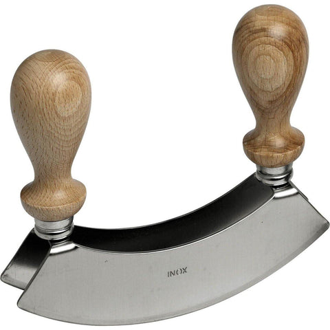 Traditional Italian Mezzaluna Cutter - Double Bladed - Pasta Kitchen (tutto pasta)
