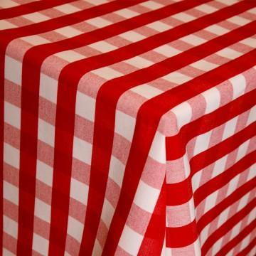 Rosso Gingham Topper Tablecloths - Pasta Kitchen (tutto pasta)