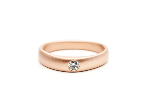 Signet Solitaire Band