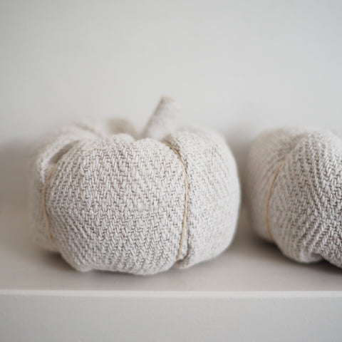 Linen Pumpkin Decorations