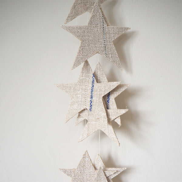 Vintage Grainsack Star Garland