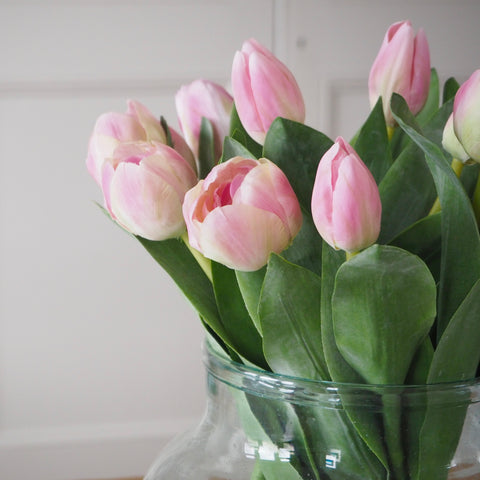 Soft Pink Faux Tulip Stems