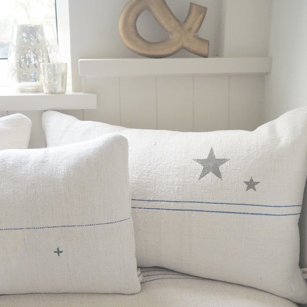 Vintage Grainsack Star Cushions