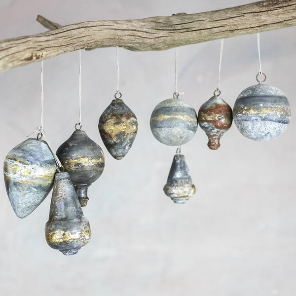 Rustic Zinc Decorations [Set of 4]